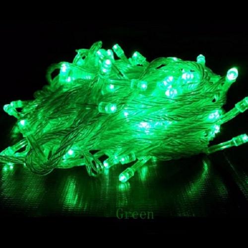 LED Λαμπάκια σε Σειρά 100 τεμάχια Πράσινο IP44 230V