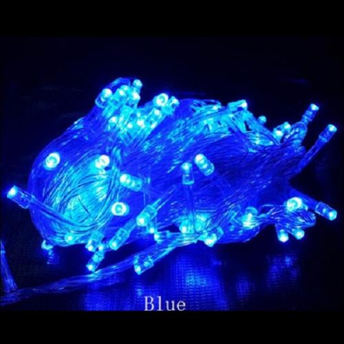 LED Λαμπάκια σε Σειρά 100 τεμάχια Μπλε IP44 230V