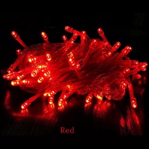 LED Λαμπάκια σε Σειρά 100 τεμάχια Κόκκινο IP44 230V